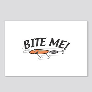 Funny Bite Me Fishing Lure Postcards (Package of 8
