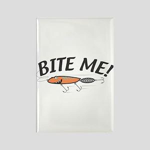 Funny Bite Me Fishing Lure Rectangle Magnet
