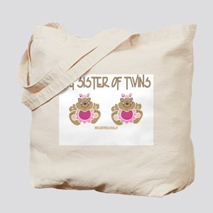 Big Sister Of Twins (2 Girls) Tote Bag