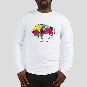 Artsy Buffalo Long Sleeve T-Shirt