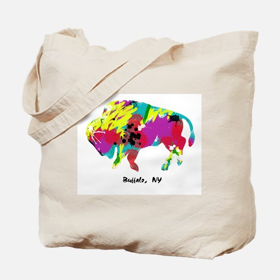 Artsy Buffalo Tote Bag