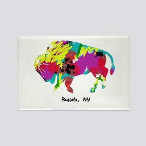 Artsy Buffalo Rectangle Magnet