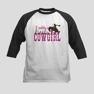 Daddys Little Cowgirl Kids Baseball Jersey
