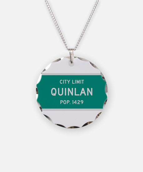 Quinlan, Texas City Limits Necklace