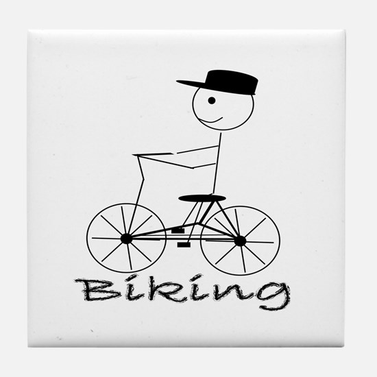 Bike / Biking Tile Coaster
