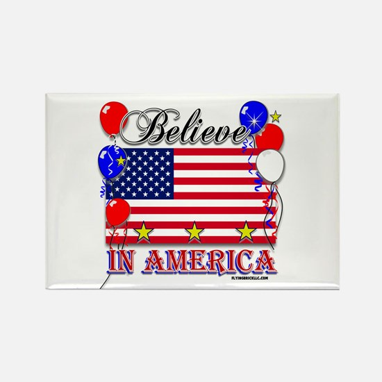 Believe in America Rectangle Magnet (10 pack)
