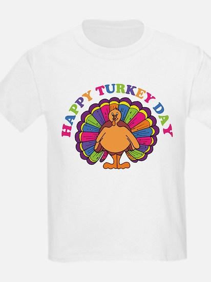 Happy Turkey Day Kids T-Shirt