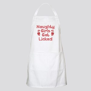 Naughty Girls Candy Cane Apron