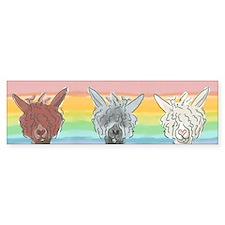 Alpaca Luv Trio Bumper Sticker