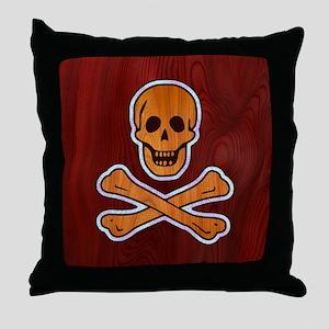 Teak Inlaid Pirate Throw Pillow