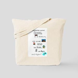 Born Again & Again Tote Bag