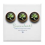 Succulent #1 Tile Coaster