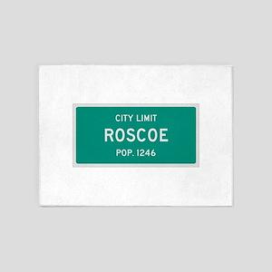Roscoe, Texas City Limits 5'x7'Area Rug
