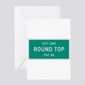Round Top, Texas City Limits Greeting Card