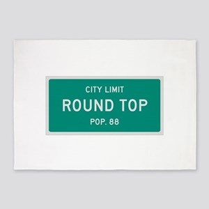 Round Top, Texas City Limits 5'x7'Area Rug