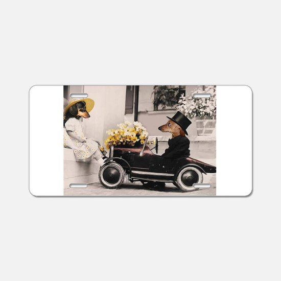Old Fashioned Love Doxies Aluminum License Plate