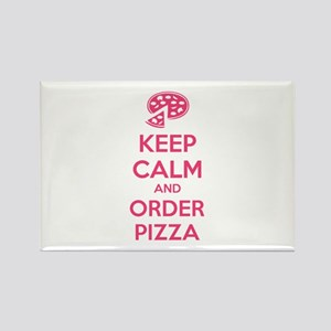 Keep calm and order pizza Rectangle Magnet