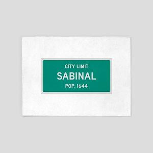 Sabinal, Texas City Limits 5'x7'Area Rug