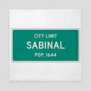 Sabinal, Texas City Limits Queen Duvet