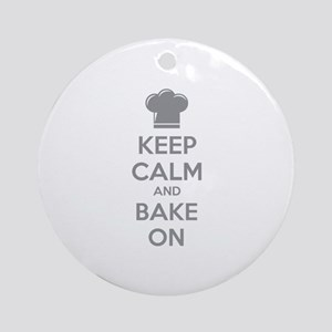 Keep calm and bake on Ornament (Round)