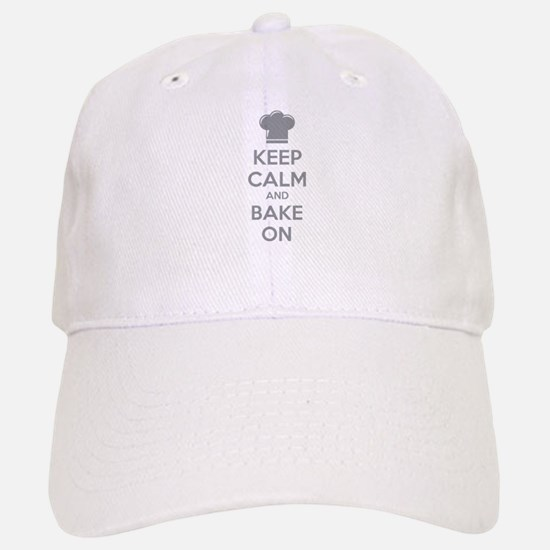 Keep calm and bake on Baseball Baseball Cap