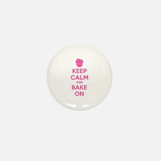 Keep calm and bake on Mini Button