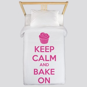 Keep calm and bake on Twin Duvet