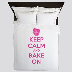 Keep calm and bake on Queen Duvet