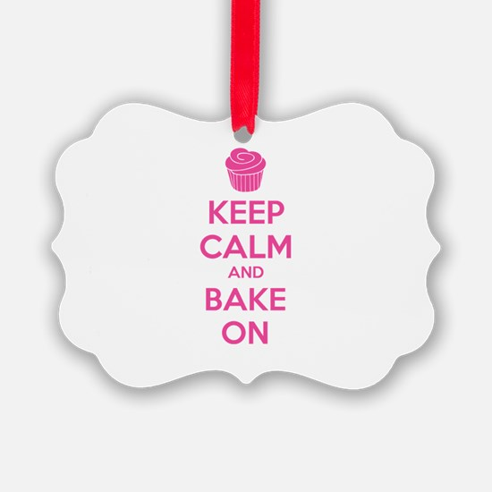 Keep calm and bake on Ornament