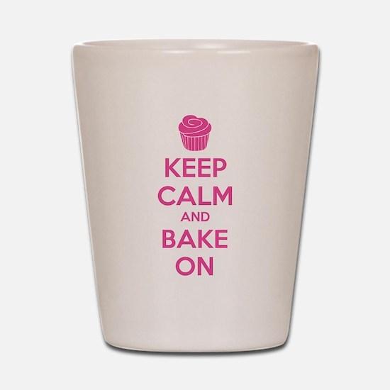 Keep calm and bake on Shot Glass