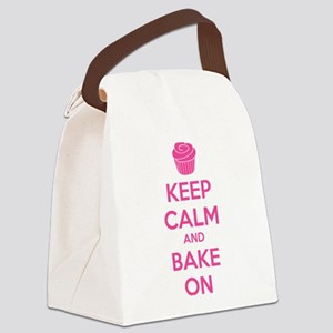 Keep calm and bake on Canvas Lunch Bag