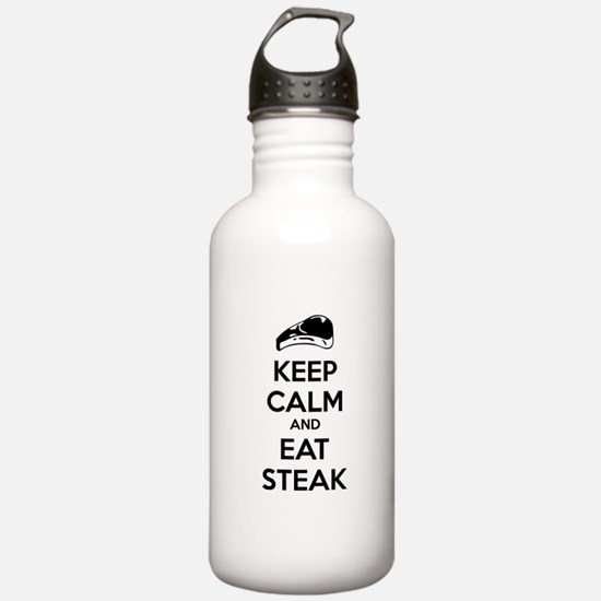 Keep calm and eat steak Water Bottle