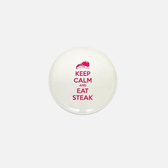 Keep calm and eat steak Mini Button