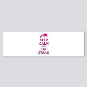 Keep calm and eat steak Sticker (Bumper)