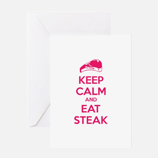 Keep calm and eat steak Greeting Card
