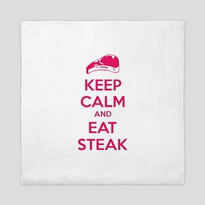 Keep calm and eat steak Queen Duvet