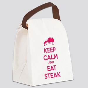 Keep calm and eat steak Canvas Lunch Bag