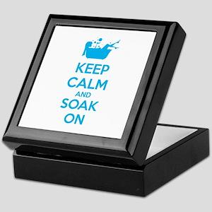 Keep calm and soak on Keepsake Box