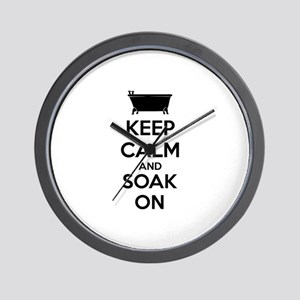 Keep calm and soak on Wall Clock