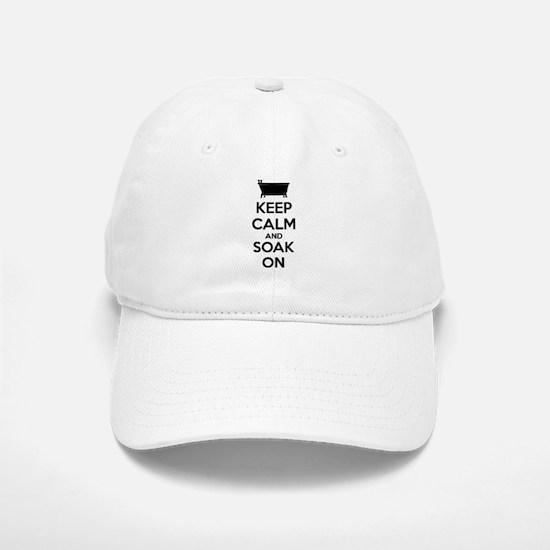 Keep calm and soak on Baseball Baseball Cap
