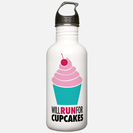 Will Run for Cupcakes Water Bottle