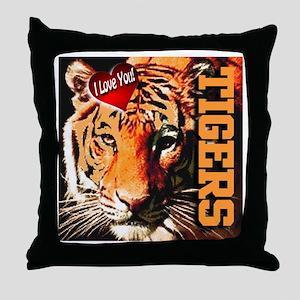 Tigers Throw Pillow