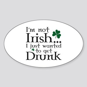 I'm Not Irish Sticker (Oval)