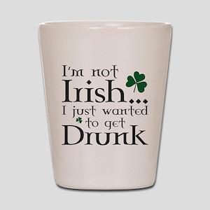 I'm Not Irish Shot Glass