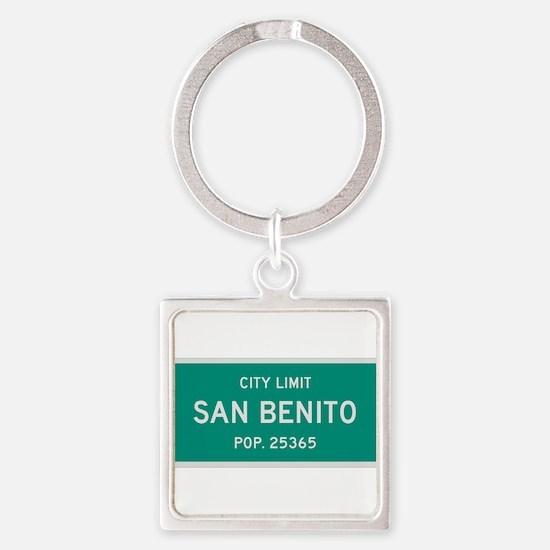 San Benito, Texas City Limits Square Keychain