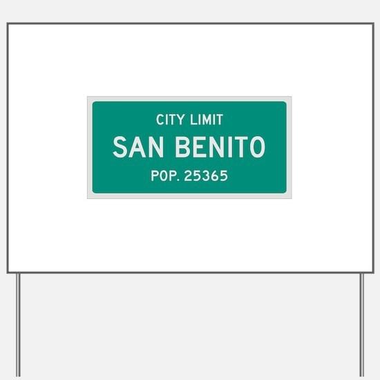 San Benito, Texas City Limits Yard Sign