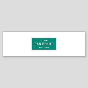 San Benito, Texas City Limits Bumper Sticker