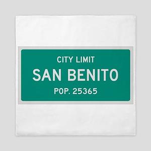 San Benito, Texas City Limits Queen Duvet