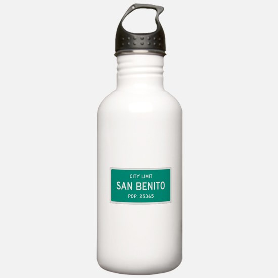 San Benito, Texas City Limits Water Bottle