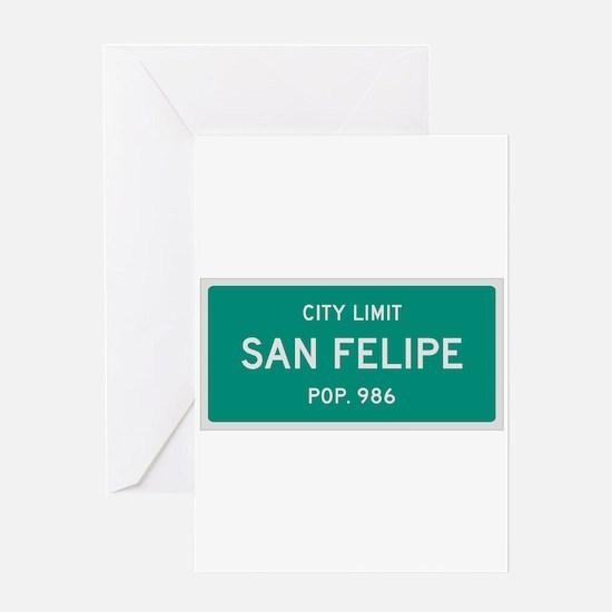 San Felipe, Texas City Limits Greeting Card